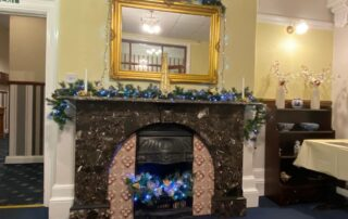 Fire Place at Chichester Hall Residential Home in Wigton